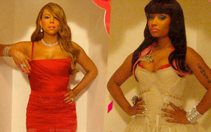 Mariah Carey and Nicki Minaj went at it during the first &quot;A.I.&quot; taping Sunday in NYC
