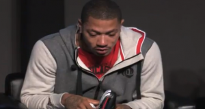 Derrick Rose Breaks Down Over Chicago Gang Violence At Adidas Shoe Launch