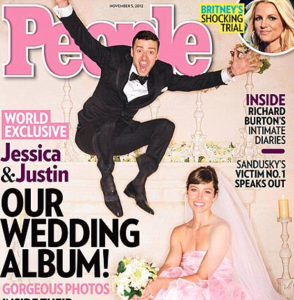 Justin and Jessica's million dollar wedding features a video of homeless people who are donned as their