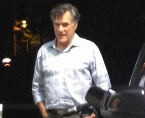 Mitt Romney was spotted in La Jolla California pumping gas at a gas station