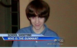 A teenaged Adam Lanza, the alleged suspect behind the catastrophic elementary school shooting in CT.
