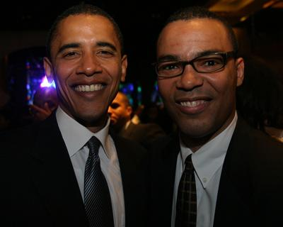 Thomas Lopez Pierre pictured with President Obama
