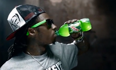 Lil Wayne dropped by Mountain Dew