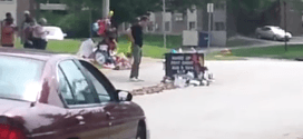 Here is raw footage of the place where Michael Brown was shot